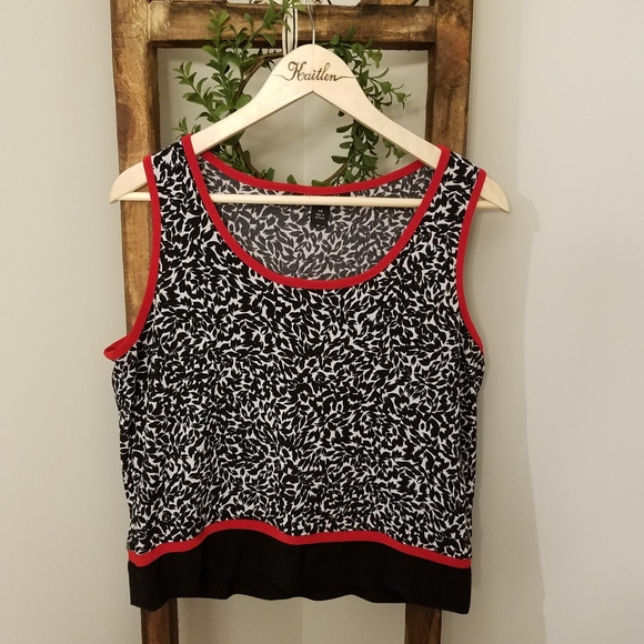 Perceptions Tops - PERCEPTIONS NY | Vintage Black & White Crop Top